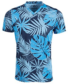 American Rag Men's Oversized Tropical Leaf Print T-Shirt, Created for Macy's