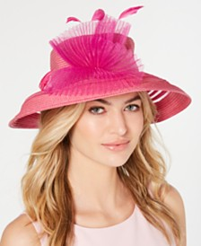 August Hats Sheer-Stripe Romantic Hat, Created for Macy's