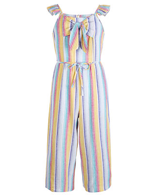 Big Girls Striped Linen Jumpsuit by General