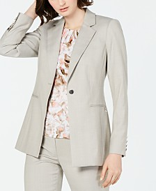 Calvin Klein Notched-Lapel Single-Button Blazer