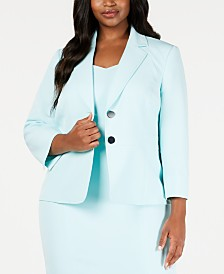 Kasper Plus Size Stretch Two-Button Jacket