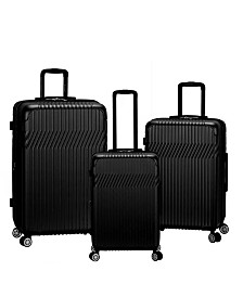 Rockland Pista 3 Piece ABS Non-Expandable Luggage Set