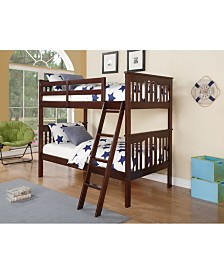Twin Over Twin Franklin Bunk Bed Mission Style