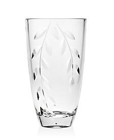 "Godinger Ceska Rhapsody 10"" Barrel Vase"