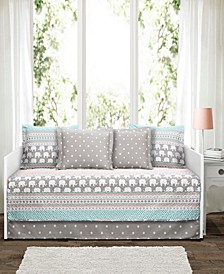Elephant Stripe 6-Pc. Daybed Cover Set