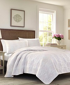 Laura Ashley Belinda Blush Quilt Set, Full/Queen