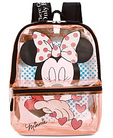 Bioworld Little & Big Girls Minnie Mouse Clear Backpack
