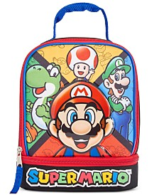 Bioworld Little & Big Boys Super Mario Lunch Box