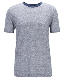 BOSS Men's T-Tesar 20 Regular-Fit Linen T-Shirt