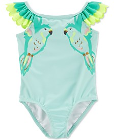 Carter's Baby Girls Double Parrot Flutter Swimsuit