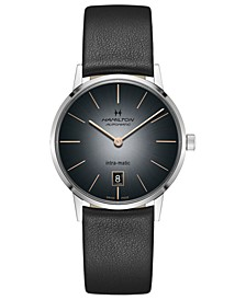 Men's Swiss Automatic American Classic Intra-Matic Black Strap Watch 38mm