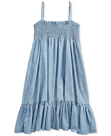Polo Ralph Lauren Big Girls Cotton Chambray Dress