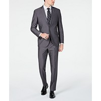 Macys deals on Kenneth Cole Unlisted Mens Slim-Fit Medium Gray Stripe Suit
