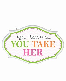 Lillian Rose You Wake Her Baby Nursery Sign