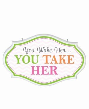 Lillian Rose You Wake Her Baby Nursery Sign