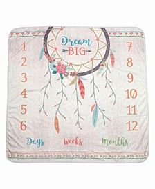 """Dream Big"" Boho Baby Blanket"