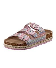 Kensie Girl's Every Step Open Toe Cork Sandals