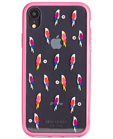kate spade new york Jeweled Flock Party iPhone XR Case