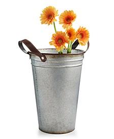 La Dolce Vita Small Metal Flower Bucket