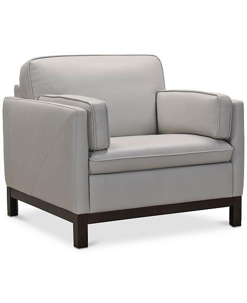 Pleasant Virton 40 Leather Chair Created For Macys Inzonedesignstudio Interior Chair Design Inzonedesignstudiocom