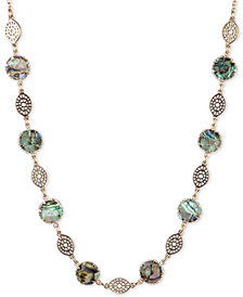 "lonna & lilly Gold-Tone Stone Strand Necklace, 16"" + 3"" extender"