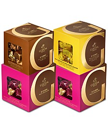 Godiva 4-Pc. Milk Chocolate, Caramel & Hazelnut G Cube Set
