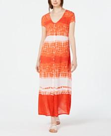 Raga Tie-Dyed Button-Down Maxi Dress
