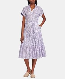 Petite Tiered-Hem Dress