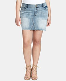 Trendy Plus Size Infinite High-Waist Denim Skirt