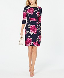 Petite Floral Ruched Dress