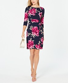 Jessica Howard Petite Floral Ruched Dress