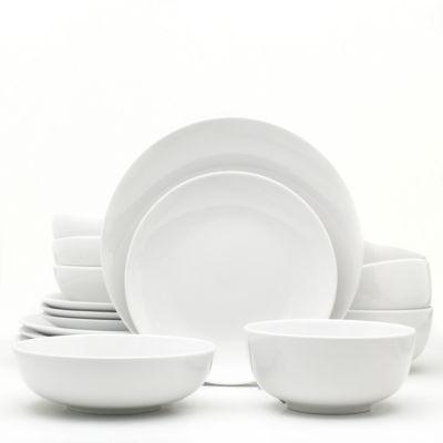 White Essential 16 Piece Dinnerware Set