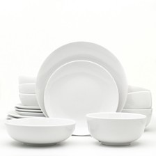 EuroCeramica White Essential 16 Piece Dinnerware Set