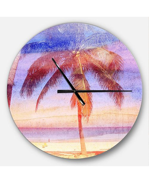 Design Art Designart Oversized Traditional Round Metal Wall Clock