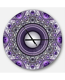 Designart Oversized Modern Round Metal Wall Clock