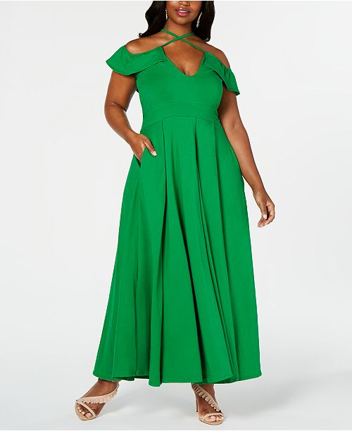 Rebdolls Ruffle Maxi Gown by The Workshop at Macy\'s ...