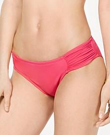 Ruched Side-Tab Bikini Bottoms