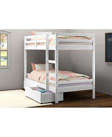 Twin Over Twin Bellaire Bunkbed with Dual Underbed Drawers