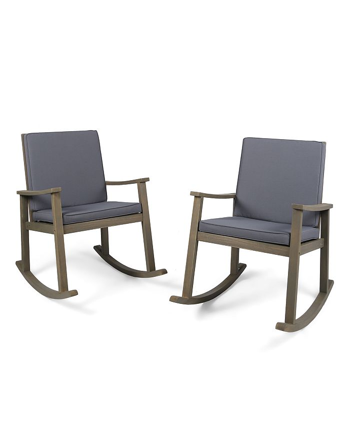 Noble House - Candel Outdoor Rocking Chair, Quick Ship (Set of 2)