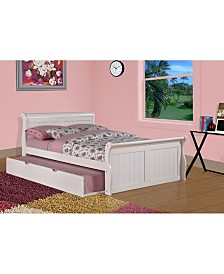 Full Sleigh Bed with Trundle Bed