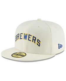 New Era Milwaukee Brewers Vintage World Series Patch 59FIFTY Cap