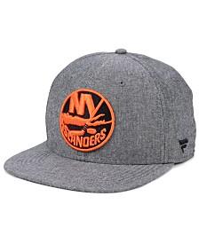 Authentic NHL Headwear New York Islanders Chambray Emblem Snapback Cap