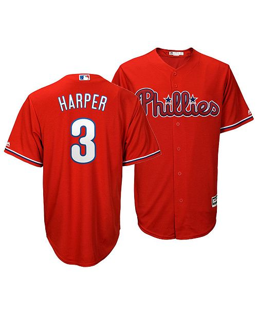 buy online 84947 63257 Men's Bryce Harper Philadelphia Phillies Player Replica Cool Base Jersey