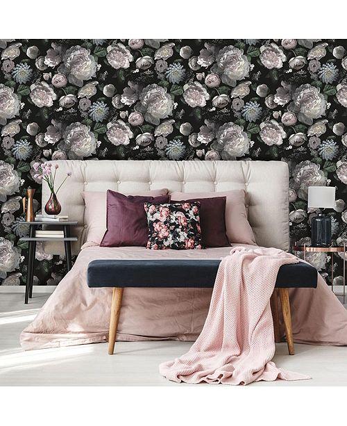 Tempaper Moody Floral Self-Adhesive Wallpaper