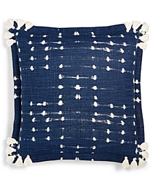"Printed Tassel 18"" Square Decorative Pillow"