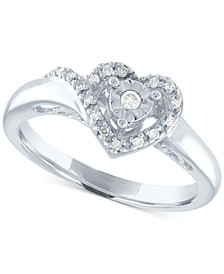 Diamond Heart Promise Ring (1/10 ct. t.w.) in Sterling Silver
