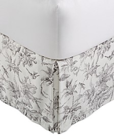 Classic Botanical Toile King Bedskirt, Created for Macy's