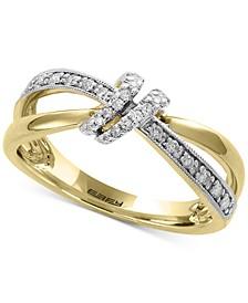 EFFY® Diamond Knot Statement Ring (1/6 ct. t.w.) in 14k Gold