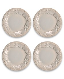 Tarhong Coral Reef Sea Shell Dinner Plate, Set of 4