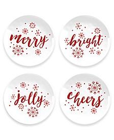 Holiday Cheers Salad Plates, Set of 4